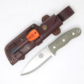 TBS Grizzly Bushcraft Survival Knife - Military Model - Firesteel Edition